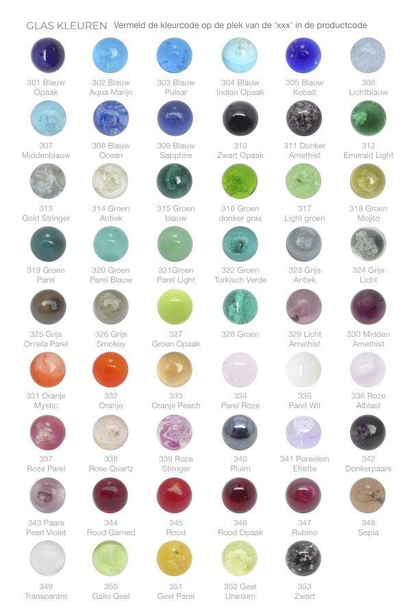 Kleurenkaart-glasbollen