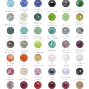 Kleurenkaart Glasbollen