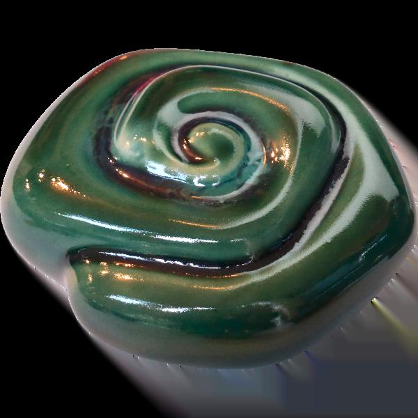 Mini urn glanzend groen