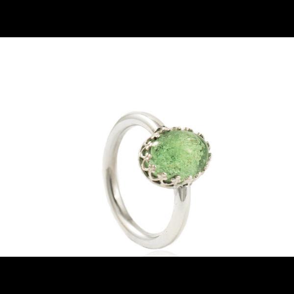 Ring met ovale glazen as ca