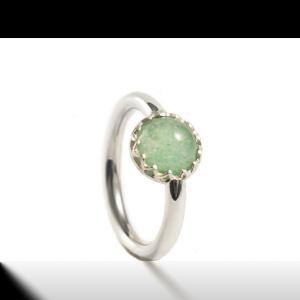 Ring met ronden glazen cabuchon 8mm-11.135xxxx