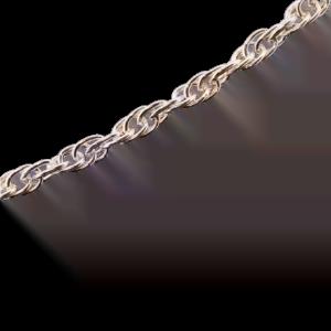dDubbel geschakeld zilveren collier
